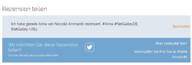 Hashtag Rezension teilen Netzwerk