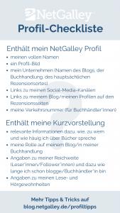 Profil-Checkliste NetGalley Challenge Kurzvorstellung